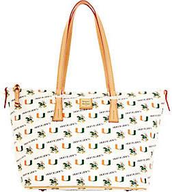 Dooney & Bourke NCAA University of Miami ZipTop Shopper