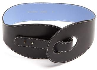 Roksanda Contrast Stitch Leather Waist Belt - Womens - Black Multi