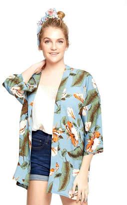 Wona Trading Floral Kimono Cover-Up