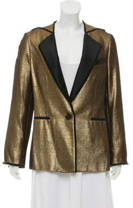 3.1 Phillip Lim Shawl-Lapel Metallic Blazer