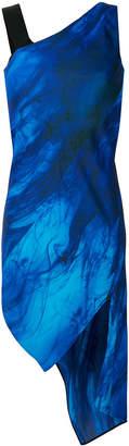 Neil Barrett asymmetric catwalk dress