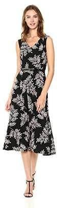 Tommy Hilfiger Women's V Neck Jersey Print Maxi