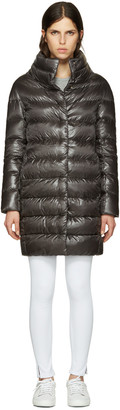 Herno Grey Down Cocoon Coat $665 thestylecure.com