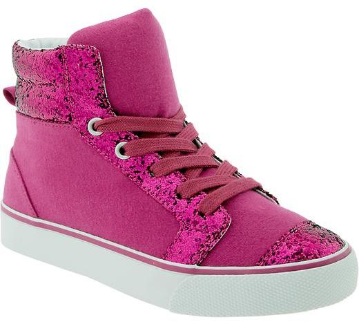 Old Navy Girls Glitter-Canvas High-Tops