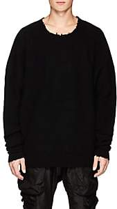 Taverniti So Ben Unravel Project Men's Waffle-Knit Wool-Cashmere Sweater - Black