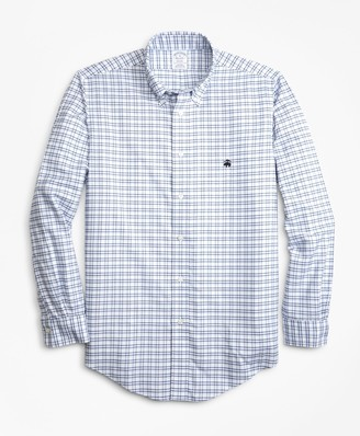 Brooks Brothers Non-Iron Regent Fit Track Check Sport Shirt