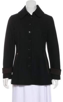 Katherine Hooker Long Sleeve Wool Coat