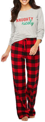 Co North Pole Trading Checkin' It Twice Flannel Family Pajamas-Women's