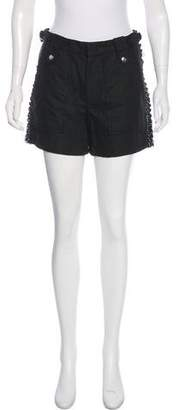 Isabel Marant Leather-Trimmed Lace-Up Shorts