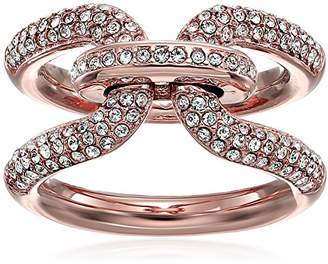 Michael Kors Brilliance Iconic Links -Tone and Pave Ring