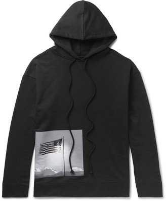 Raf Simons + Robert Mapplethorpe Foundation Printed Loopback Cotton-Jersey Hoodie $685 thestylecure.com
