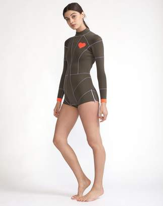 Cynthia Rowley Olive Heart Emblem Wetsuit
