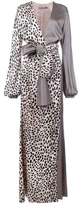 Silvia Tcherassi Paneled Maxi Wrap Dress
