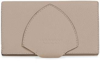 Burberry equestrian shield to-tone leather continental wallet
