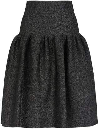 St. John Pleated Knit Skirt