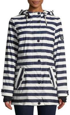 1 Madison Striped Hooded Raincoat