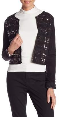 Molly Bracken Faux Suede Embellished Jacket