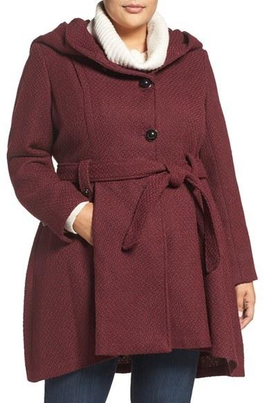 STEVE MADDENPlus Size Women's Steve Madden Drama Hooded Coat