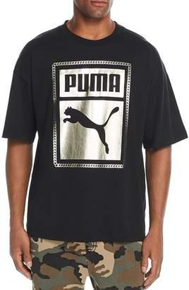 Puma Metallic Chain Logo Graphic Tee