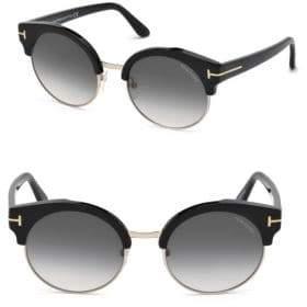 Tom Ford 54MM Alissa Clubmaster Gradient Sunglasses
