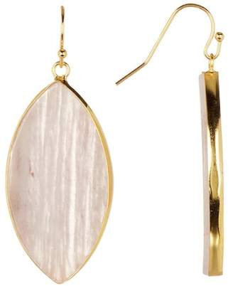 Panacea 14K Gold Blush Agate Marquise Earrings