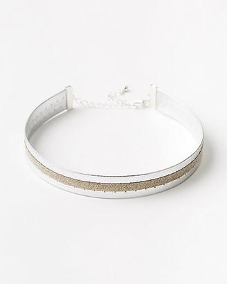Le Château Glitter & Metallic Choker Necklace