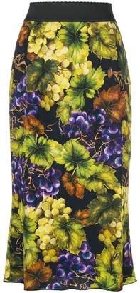 Dolce & Gabbana paneled printed fitted skirt