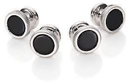 Dunhill Men's Ribbed Logo Cuff Links