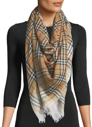 Burberry Two-Tone Vintage Check Square Scarf