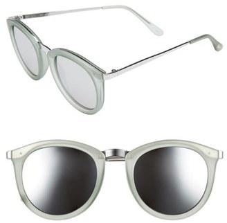 Women's Le Specs No Smirking 50Mm Sunglasses - Olive Rubber/ Silver $79 thestylecure.com