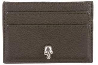 Alexander McQueen Leather Skull-Accented Card Holder