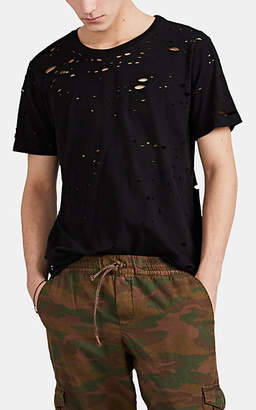 NSF Men's Distressed Cotton T-Shirt - Black