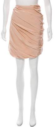 Behnaz Sarafpour Pleated Knee-Length Skirt w/ Tags