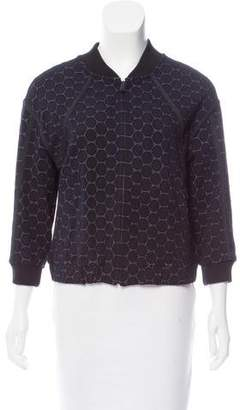 Marc by Marc Jacobs Geometric Pattern Zip-Up Sweatshirt