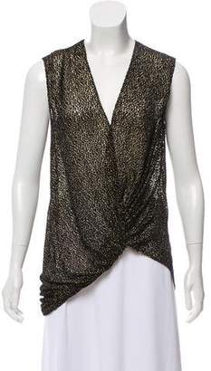 Lanvin Sleeveless Devoré Top