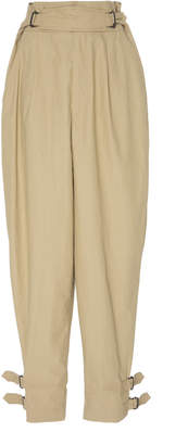 Isabel Marant Pierce High-Waisted Cotton Pants Size: 34