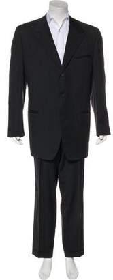 Gianni Versace Wool Peak-Lapel Suit