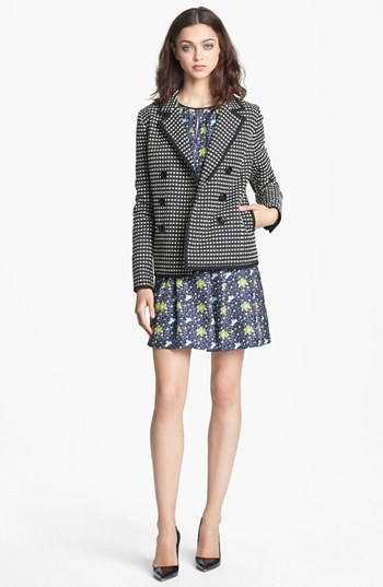 Nordstrom Miss Wu Check Jacquard Jacket Exclusive)