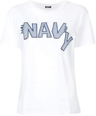 Jil Sander Navy embroidered logo T-shirt
