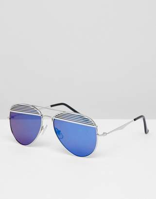 Jeepers Peepers Aviator Sunglasses With Colored Lens