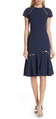 Jonathan Simkhai Stapled Crepe T-Shirt Dress