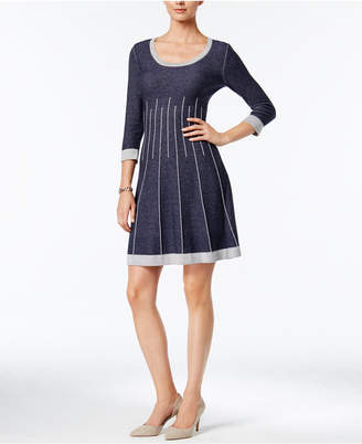 Nine West Fit & Flare Sweater Dress
