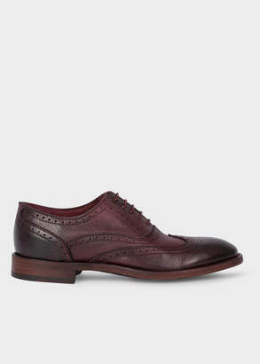 Paul Smith Women's Burgundy Leather 'Munro' Flexible Travel Brogues