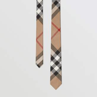 Burberry Modern Cut Check Silk Tie, Brown