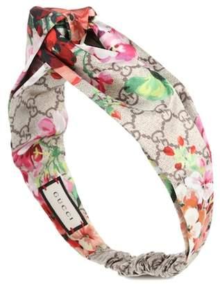 Gucci Printed silk-satin headband