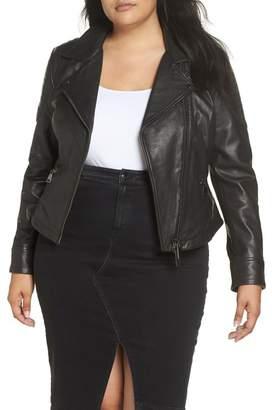 Marina Rinaldi ASHLEY GRAHAM X Ebe Leather Biker Jacket (Plus Size)
