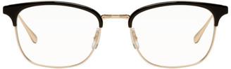 Garrett Leight Black and Gold Talbert 51 Glasses