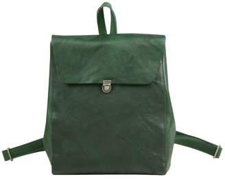 EAZO - Minimalist Genuine Leather Backpack In Green