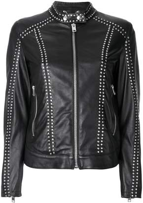 Diesel studded leather jacket