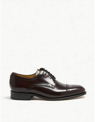 Barker Perth high-shine leather derby shoes